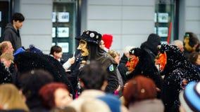 Editorial, el 14 de febrero de 2016: Selestat, Francia: Carnaval y par Fotos de archivo
