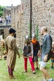 Editorial, el 14 de junio de 2015: Chatenois, Francia: DES Remparts d de la fiesta Fotos de archivo libres de regalías
