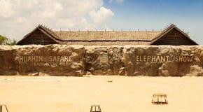 Editorial-Elephant show at HuaHin Safari,Thailand. Prachuap Khiri Khan, THAILAND - May 10, 2017, Editorail use only;Elephant show at HuaHin Safari,Thailand royalty free stock images