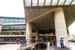 Editorial, Entrance to Acropolis Museum royalty free stock image