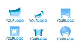Editorial financial logo vector set Royalty Free Stock Image