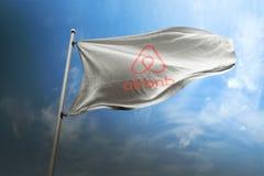 Editorial fotorrealista de la bandera de Aribnb