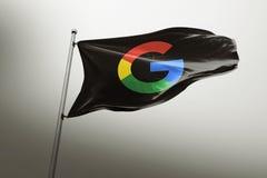 Editorial fotorrealista de la bandera de Google ilustración del vector