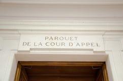 Editorial francês do admnistration de justiça Fotografia de Stock