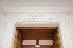 Editorial francês do d'appel de la cour do parquet do admnistration de justiça Foto de Stock Royalty Free