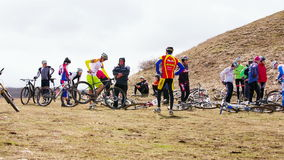 EDITORIAL. Group Of Professional Cyclists stock footage
