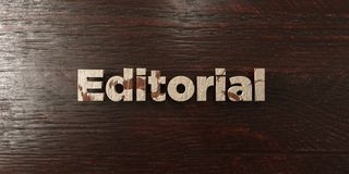 Editorial - grungy wooden headline on Maple  - 3D rendered royalty free stock image Royalty Free Stock Photography