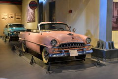 Editorial: Gurgaon, Haryana, India: April 09th, 2016:Pink Desoto Diplomat Convertible model in Museum Stock Photo
