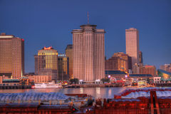 Editorial HDR Photo of New Orleans. Skyline during the evening Stock Image
