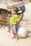 Editorial illustrative image. childs in the street, India Royalty Free Stock Photography