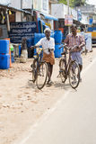 Editorial illustrative image. Cycle transportation in India Royalty Free Stock Photos