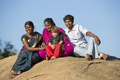 Editorial illustrative image. Family meeting in India Stock Images