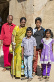 Editorial illustrative image. Family meeting in India Stock Photos