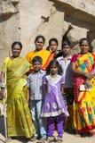 Editorial illustrative image. Family meeting in India. Illustrative image. Pondichery, Tamil Nadu, India. June 15, 2014. Family meeting in the street in park Royalty Free Stock Images
