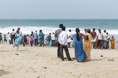 Editorial illustrative image. Family meeting in India. Illustrative image. Pondichery, Tamil Nadu, India. June 15, 2014. Family meeting in the street in park Royalty Free Stock Photo
