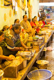 Editorial illustrative image. Fishs market in India Royalty Free Stock Image