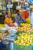 Editorial illustrative image. Food market in India Stock Photos