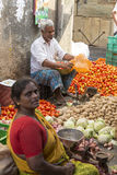 Editorial illustrative image. Food market in India Royalty Free Stock Photography