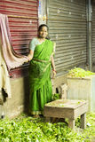 Editorial illustrative image. Food market in India Royalty Free Stock Photos