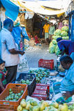 Editorial illustrative image. Food market in India Royalty Free Stock Photo