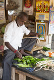 Editorial illustrative image. Food market in India Stock Photography