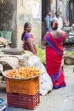 Editorial illustrative image. Food market in India Stock Image