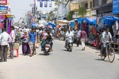 Editorial illustrative image. Market place at Pondichery Royalty Free Stock Photos