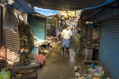 Editorial illustrative image. Market place at Pondichery Royalty Free Stock Image