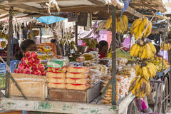 Editorial illustrative image. Market place at Pondichery Royalty Free Stock Photography