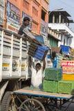 Editorial illustrative image. Market place at Pondichery Stock Photos