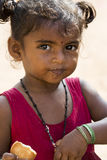 Editorial illustrative image. Poor kid smiling, India Stock Images