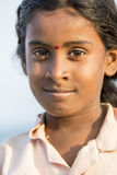 Editorial illustrative image. Poor kid smiling, India Royalty Free Stock Photography