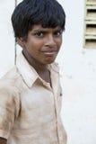Editorial illustrative image. Sad poor kid, India Stock Image