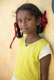 Editorial illustrative image. Sad poor kid, India Royalty Free Stock Photo