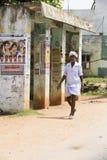 Editorial illustrative image. Scene of life in India. Illustrative image. Pondicherry, Tamil Nadu, India - April 21, 2014. Scenes of life in small poor villages Stock Photos