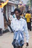 Editorial illustrative image. Scene of life in India. Illustrative image. Pondicherry, Tamil Nadu, India - April 21, 2014. Scenes of life in small poor villages Stock Image