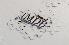 Editorial ilustrativo del concepto del escándalo 1MDB imagen de archivo libre de regalías