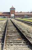 Editorial infamous iconic train entry gate building Birkenau Ger Stock Photography