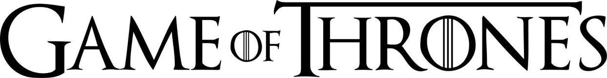 Editorial - juego del logotipo de los tronos ilustración del vector