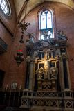 Editorial. June, 2019. Venice, Italy. Fragment of the interior, the figure of Jesus in the Basilica di Santa Maria Gloriosa dei. Frari. Usually just called the royalty free stock photos