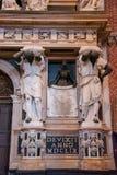 Editorial. June, 2019. Venice, Italy. Fragment of the Monument dedicated to the Doge Giovanni Pesaro in the interior of the. Basilica di Santa Maria Gloriosa stock photo
