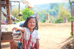 Editorial little karen girl at thailand Stock Images
