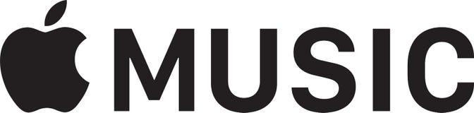 Editorial - logotipo da música de Apple ilustração do vetor