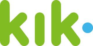 Editorial - logotipo del kik ilustración del vector