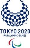 Editorial - logotipo 2020 dos jogos de Paralympic do Tóquio ilustração royalty free