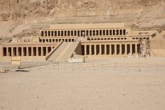 General view of the Mortuary Temple of Hatshepsut. Editorial: LUXOR, EGYPT, October 17, 2018 - General view of the Mortuary Temple of Hatshepsut in the vicinity stock photos