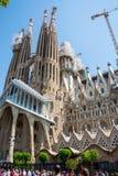 editorial Maj 2018 Fasada Sagrada Familia w lecie, Barcel obraz stock