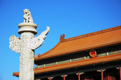 Editorial: The marble pillar of china Stock Photo
