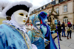 Editorial, 6 March 2016: Rosheim, France: Venetian Carnival Mask Royalty Free Stock Photo