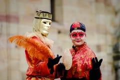 Editorial, 6 March 2016: Rosheim, France: Venetian Carnival Mask Stock Photo